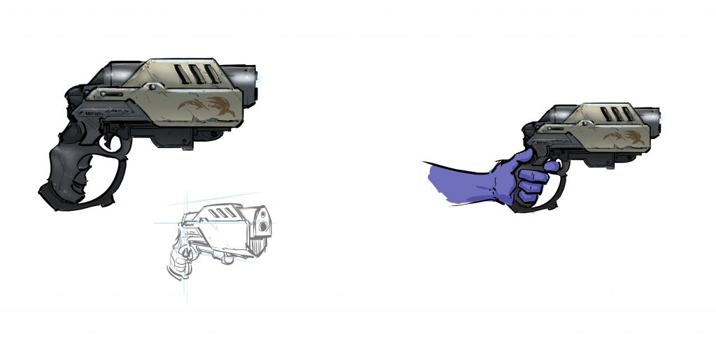 Project Cybertronic Pistol concept art