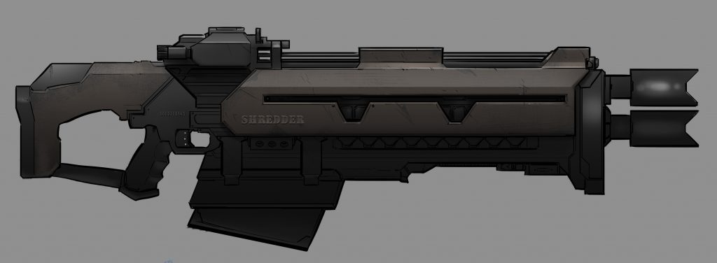 Project Cybertronic Flak Rifle Concept Art