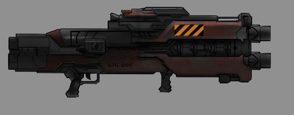 Project Cybertronic Rocket Launcher concept art