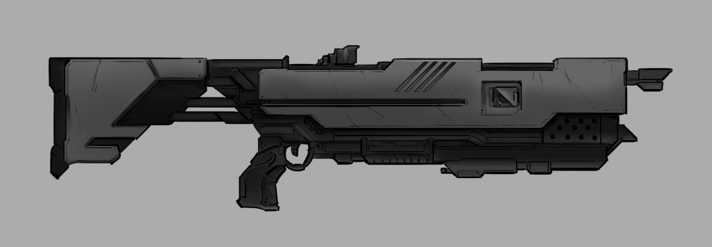Project Cybertronic Assault Rifle concept art
